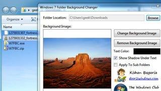 Illustration for article titled Windows 7 Folder Background Changer Adds Flair to Windows Explorer