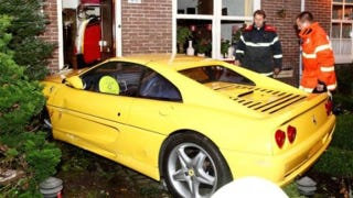 Illustration for article titled Ferrari F355 GTS collides with a house in The Netherlands