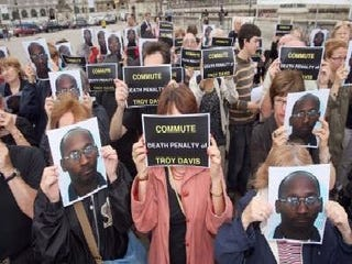 Demonstration for Troy Davis (Mehdi Fedouach/AFP/Getty Images)