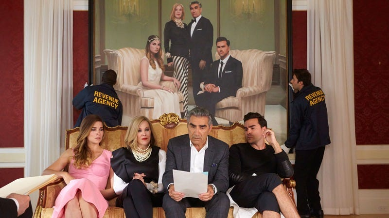 Illustration for article titled With sophisticated ignorance and unexpected heart, Schitt's Creek finds riches