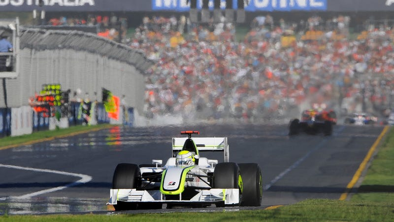 Illustration for article titled Brawn GP's Surprise Debut Win In Australia Was Ten Years Ago Today