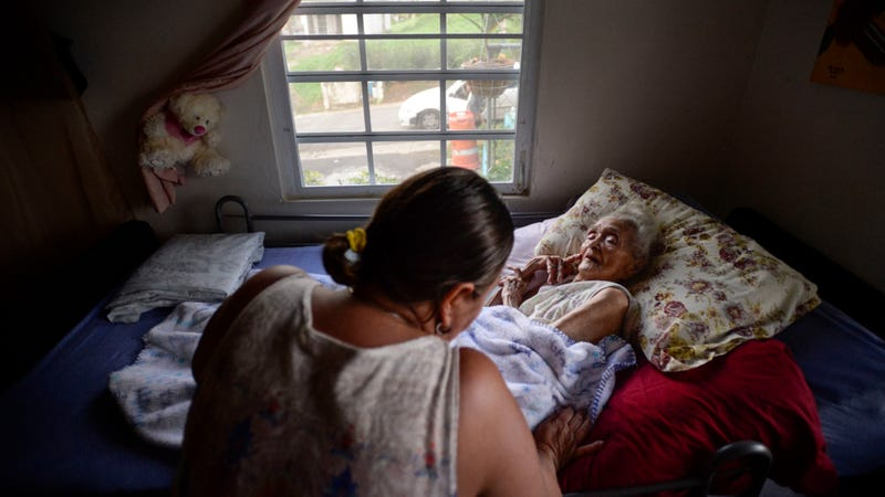96-year-old Rosa Maria Torres, San Lorenzo sector, Puerto Rico. Image via the AP.