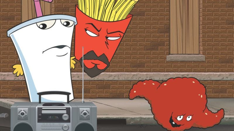 Illustration for article titled Aqua Teen Hunger Force changes its name, theme song
