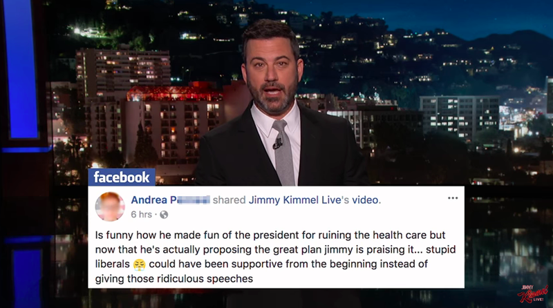 Illustration for article titled Jimmy Kimmel admits he was wrong, urges everyone to sign up for TrumpCare—at HealthCare.gov