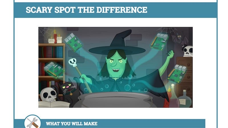 this spooky spot the difference game teaches kids to code