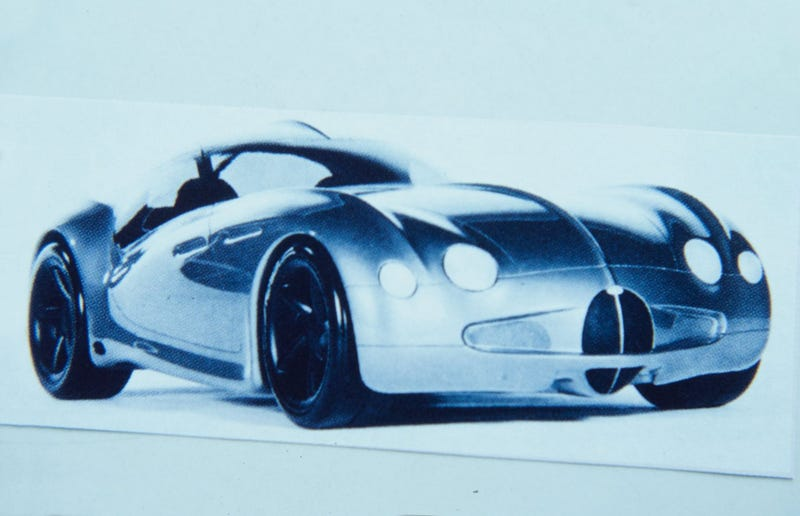 Illustration for article titled 1994 I.A.D. Bugatti Atlantic - Sketches and Models
