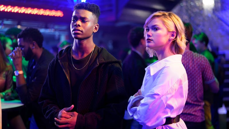 Cloak and Dagger posing as partygoers and staking out a meeting of crime lords.