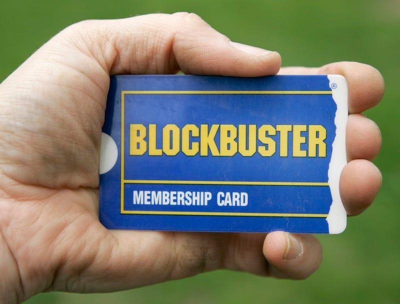 Photo of a Blockbuster membership card, probably taken on a Monday circa 2008 (AP Photo/Amy Sancetta)