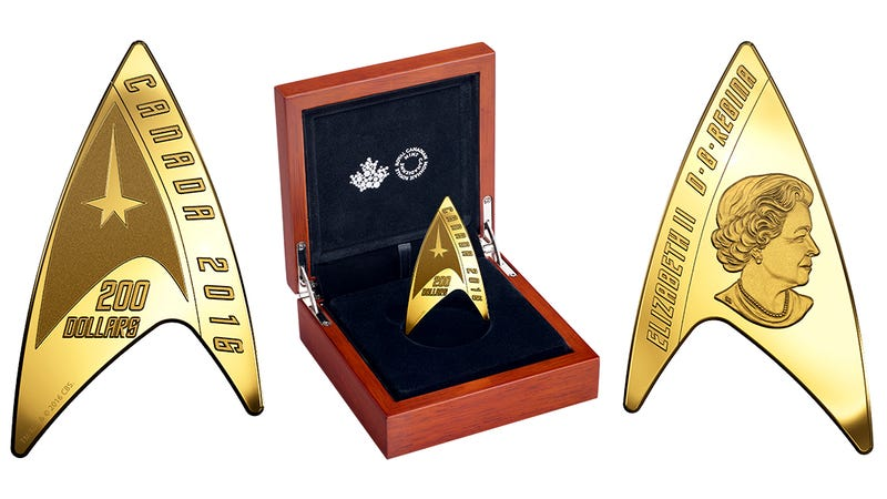 Illustration for article titled Yes, This Amazing Star Trek Delta Coin Is Real Currency in Canada