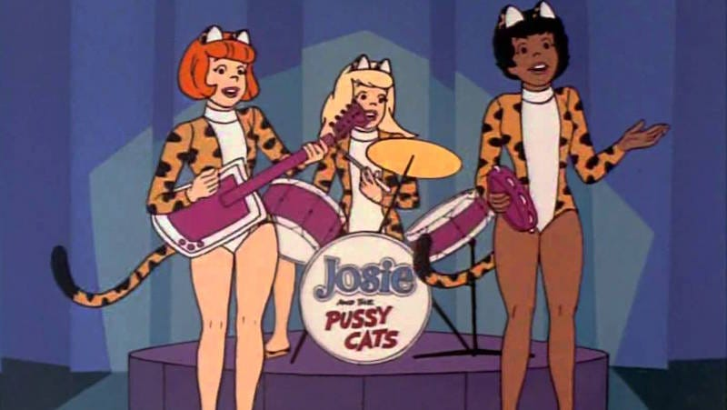 Image: Old school Josie and the Pussycats from the Hanna-Barbera cartoon