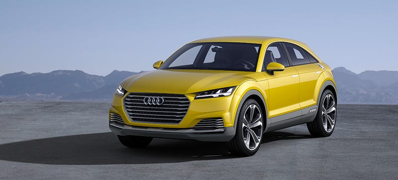 Illustration for article titled The Audi TT Offroad Concept Is The Big Future Of Audi's Little Coupe