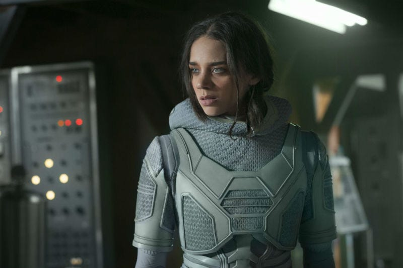 Hannah John-Kamen plays Ghost, a very interesting villain