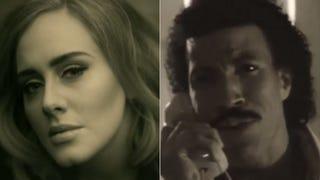 Adele; Lionel RichieYouTube screenshot; Vine