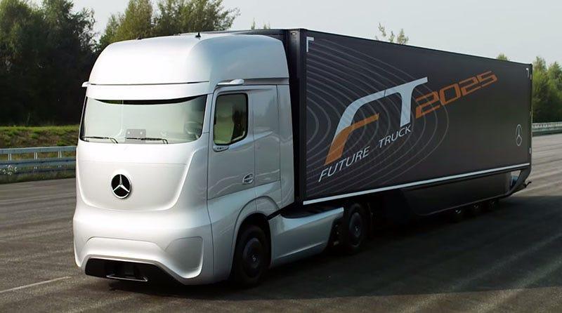 Illustration for article titled Así serán los camiones en 2025, según Mercedes