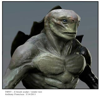 Illustration for article titled Concept Art Shows The Live-Action TMNT Could Have Been Much Creepier
