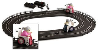 Illustration for article titled Racing Grannies Going Nowhere Fast