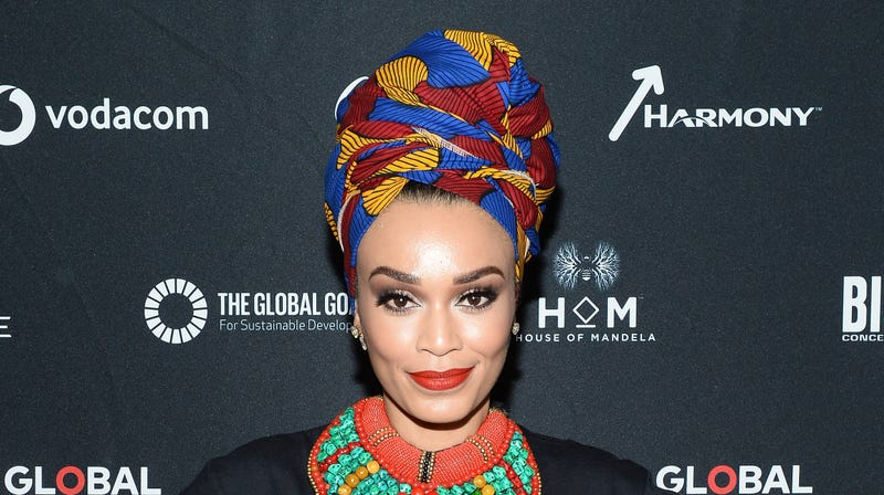 Pearl Thusi attends the Global Citizen Festival: Mandela 100 on December 2, 2018 in Johannesburg, South Africa.