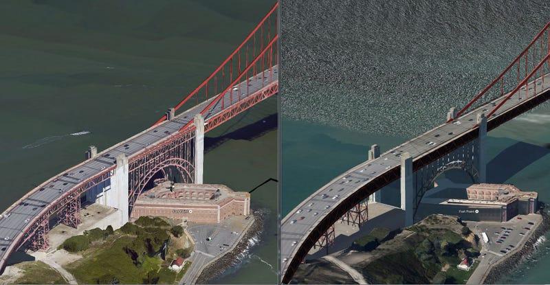Illustration for article titled Saluda a la cámara, Google dobla la calidad de sus fotos de satélite