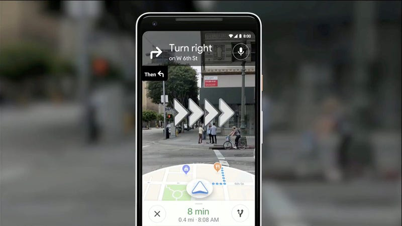 Illustration for article titled Cómo probar el nuevo Google Maps con indicaciones en realidad aumentada