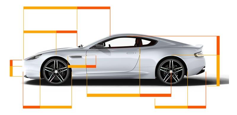 The Golden Ratio in the DB9. Aston Martin.