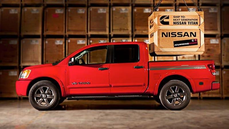 nissan renewing promise of 5 0 cummins turbodiesel titan 39 coming soon 39. Black Bedroom Furniture Sets. Home Design Ideas
