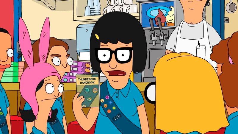 "Illustration for article titled Bob's Burgers: ""Tina Tailor Soldier Spy"""