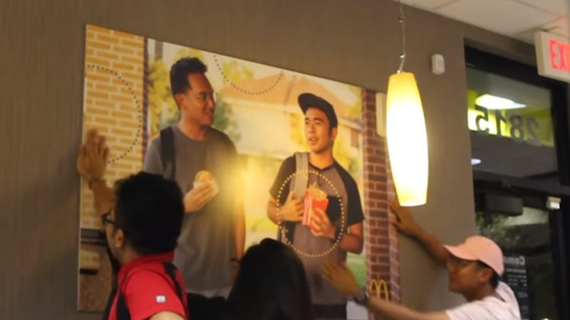 Illustration for article titled College student's excellent prank hangs on McDonald's wall for 51 days