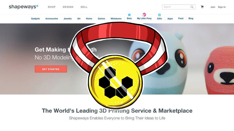 Most Popular 3D Printing Service: Shapeways