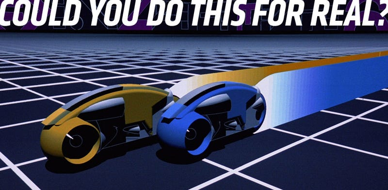 Illustration for article titled Here's How You Could Have A Tron Light-Cycle Battle In Real Life