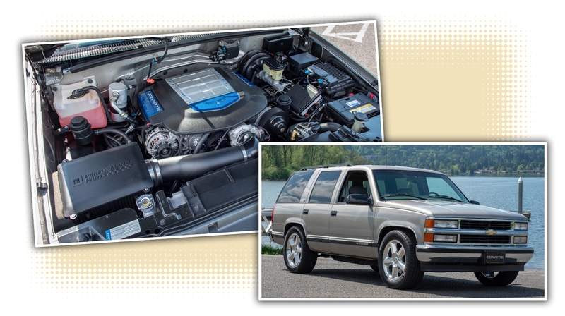 Illustration for article titled We All Need This Totally Normal Looking 1998 Chevy Tahoe With A 638 HP Corvette ZR1 Engine