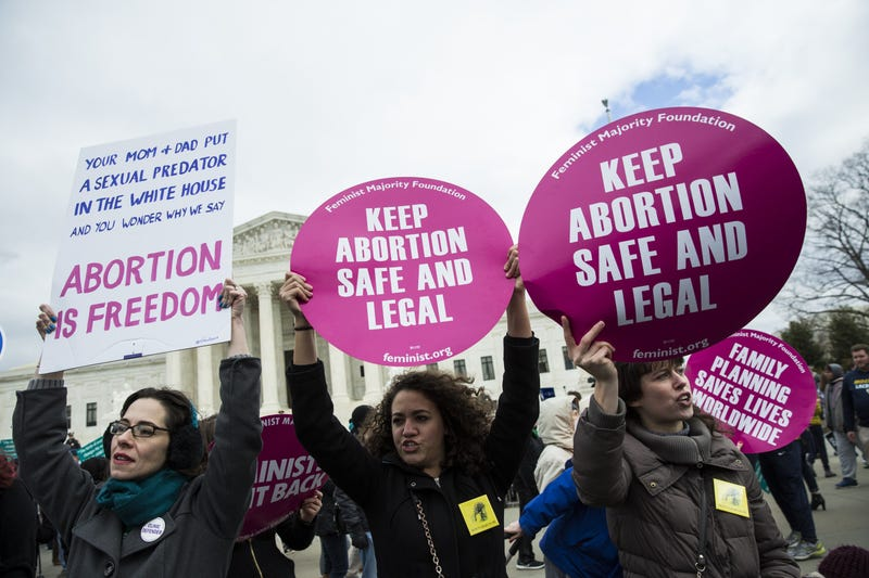 Pro-choice supporters try to block pro-life demonstrators in front of the Supreme Court in Washington, D.C., during the annual March for Life on the anniversary of the historic Roe v. Wade Supreme Court ruling on Jan. 27, 2017. (Samuel Corum/Anadolu Agency/Getty Images)