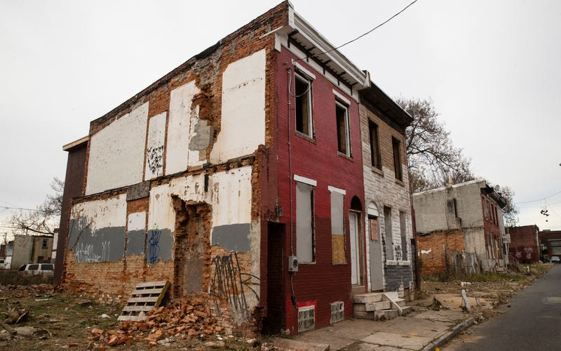Photo: AP (A dilapidated house in Philadelphia, the main case study in Reveal's report on housing discrimination.)