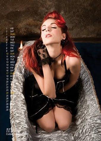 Illustration for article titled Italian Coffin Company Sells Girlie Calendar