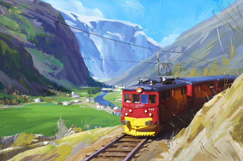 Illustration for article titled The Alpine Express