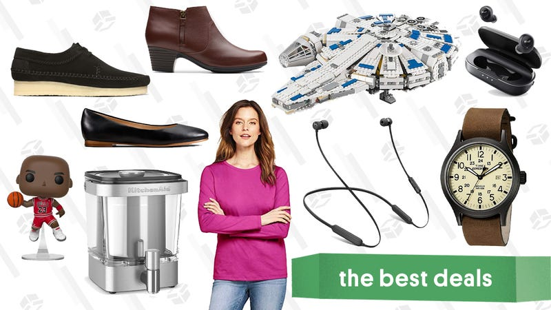Illustration for article titled Friday's Best Deals: LEGO Millennium Falcon, Anker True Wireless Headphones, Too Faced Sale, and More