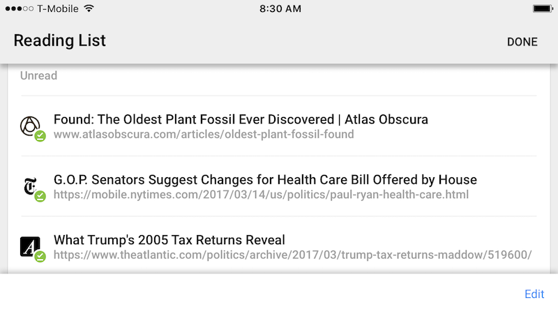 Illustration for article titled Chrome for iPhone Gets a Reading List for Saving Articles and Offline Reading