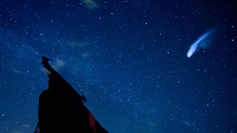 A long exposure shot of the Perseid meteor shower over Villarejo de Salvanes, Spain in 2013. Photo: AP