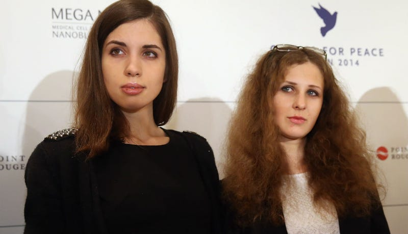 Illustration for article titled Pussy Riot Members Detained and Released in Sochi Hotel 'Theft' Case