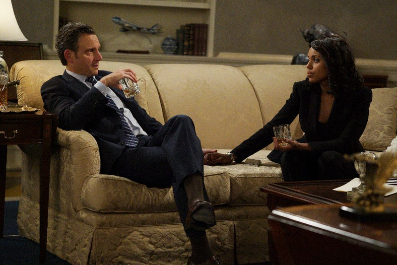 Fitz (Tony Goldwyn) and Olivia (Kerry Washington) plot to save America. (Richard Cartwright/ABC)