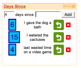 Illustration for article titled Days Since iGoogle widget tracks how much time has passed