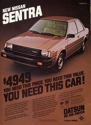 Illustration for article titled old Nissan ads