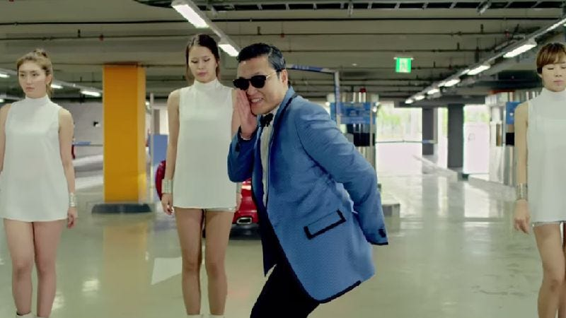 """Illustration for article titled """"Gangnam Style"""" broke YouTube's view counter"""
