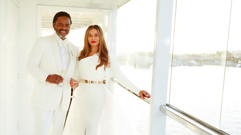 Illustration for article titled Queen Tina Knowles Got Married on a Yacht This Weekend