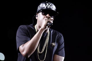 Jay Z performing during the Watch the Throne tour in Paris June 1, 2012.GUILLAUME BAPTISTE/AFP/GettyImages