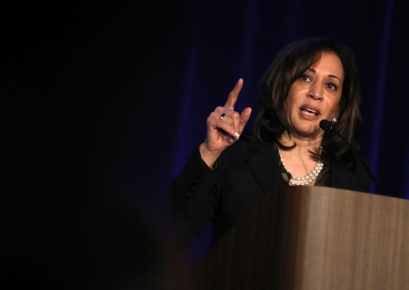 Democratic presidential hopeful U.S. Sen. Kamala Harris (D-Calif.) speaks during the San Francisco Black Newspaper's Anniversary Celebration on May 09, 2019 in San Francisco, California.