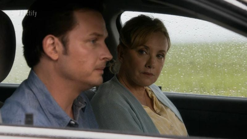 Illustration for article titled Rectify's third season finale features the rare somber road trip