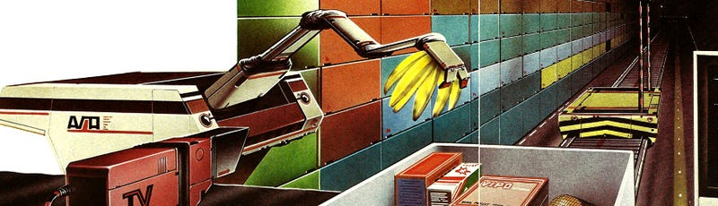 Illustration for article titled Shopping in the Future (1981)