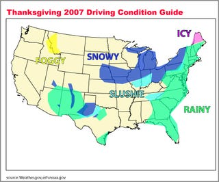 Illustration for article titled Thanksgiving Day Travel... It's Snowy Out There
