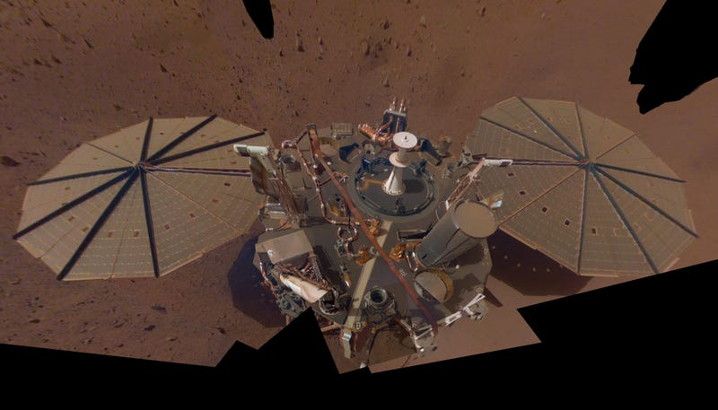 A Martian Dust Devil Swept Right Over NASA's InSight Lander