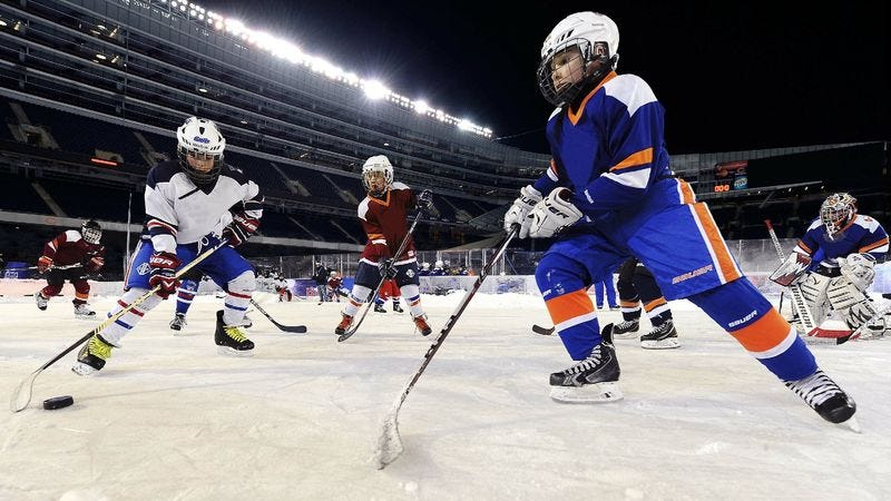 Illustration for article titled NHL Outdoor Games Inspiring More Kids To Go Outside And Play Hockey At Local NFL Stadiums